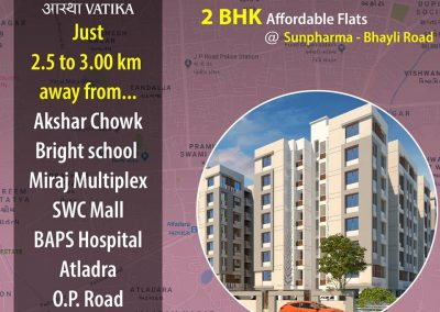2 Bhk Affordable Apartments in Sunpharma, Bhayli Road Vadodara (1)