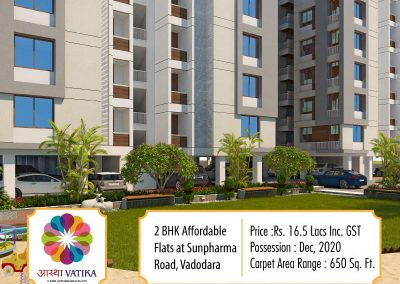 2 Bhk Affordable Apartments in Sunpharma, Bhayli Road Vadodara (5)