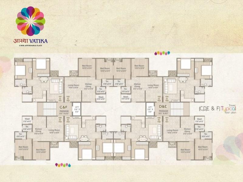 Astha Vatika 2 BHK Plan Vadodara